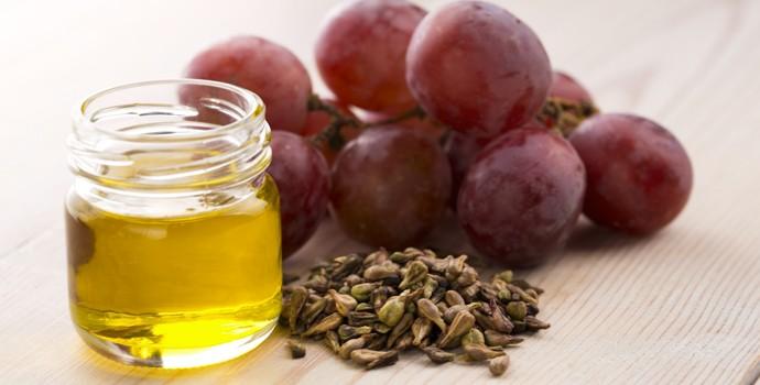 cosmétiques et produits de beauté de la mer morte à l'huile de pépins de raisin
