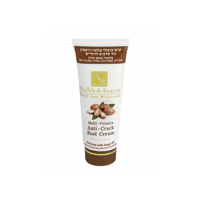 Crème multivitaminée pour les pieds à l'huile d'argan - 180 ml