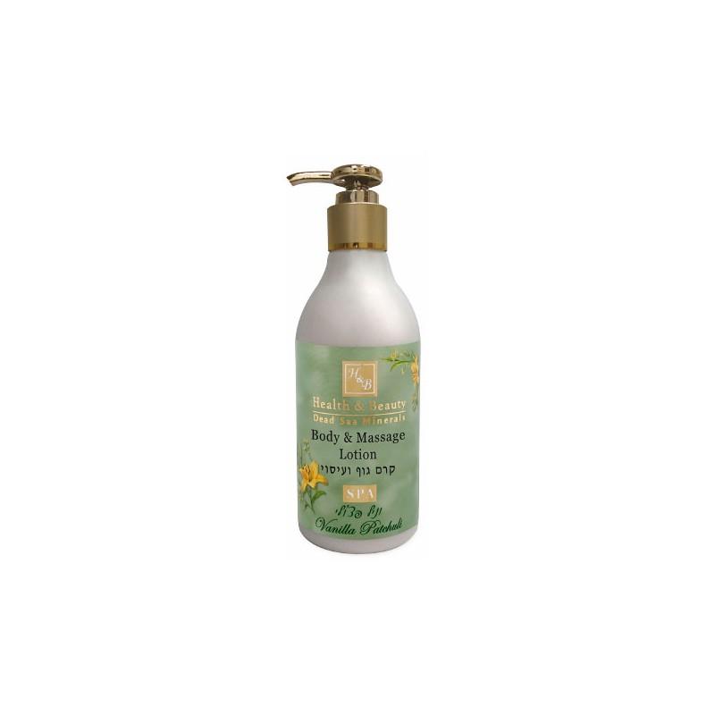 Lotion pour le corps et massage vanille et patchouli - 300 ml