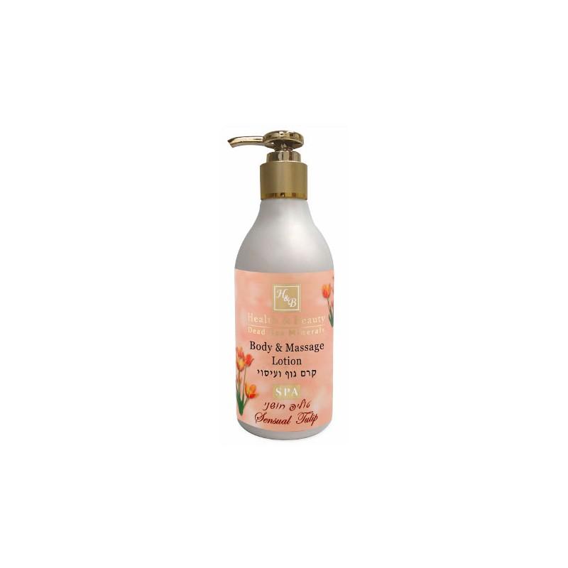 Lotion pour le corps et massage tulipe sensuelle - 300 ml