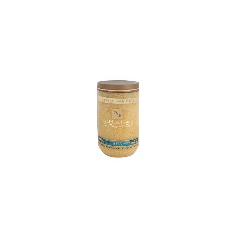 Sels de bain aromatisés (jaune) - 1,2 kg