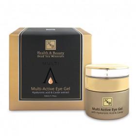 Gel contour des yeux Multi-Actif enrichi à l'acide hyaluronique et extrait de caviar - 50 ml